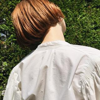 ミニボブ ボブ 抜け感 ハイトーン ヘアスタイルや髪型の写真・画像