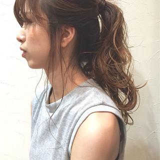 ショート ヘアアレンジ ロング くせ毛風 ヘアスタイルや髪型の写真・画像