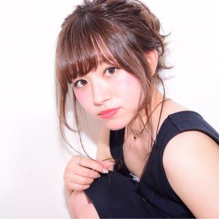 シニヨン ロング 簡単ヘアアレンジ ショート ヘアスタイルや髪型の写真・画像