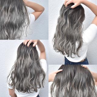 ホワイト グレージュ ストリート 外国人風 ヘアスタイルや髪型の写真・画像