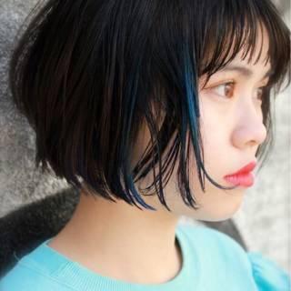 ストリート ボブ グラデーションカラー ショート ヘアスタイルや髪型の写真・画像 ヘアスタイルや髪型の写真・画像