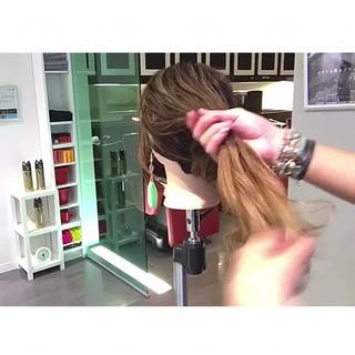 簡単ヘアアレンジ 上品 ロング ヘアアレンジ ヘアスタイルや髪型の写真・画像