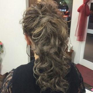 結婚式 ヘアアレンジ ポニーテール ロング ヘアスタイルや髪型の写真・画像 ヘアスタイルや髪型の写真・画像