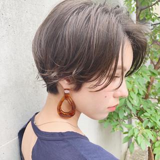ベリーショート ショートボブ ナチュラル アンニュイほつれヘア ヘアスタイルや髪型の写真・画像