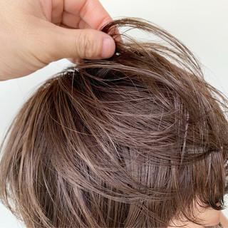 透明感カラー マッシュショート 外国人風カラー ショートボブ ヘアスタイルや髪型の写真・画像