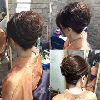 ロング 和装 アップスタイル ヘアアレンジ ヘアスタイルや髪型の写真・画像