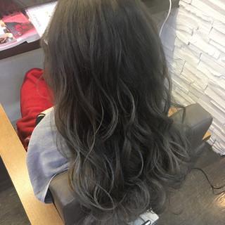 外国人風 アッシュ ニュアンス ロング ヘアスタイルや髪型の写真・画像