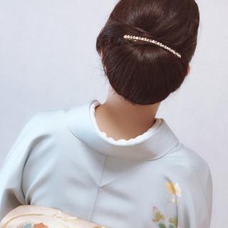 結婚式 謝恩会 ロング ヘアアレンジ ヘアスタイルや髪型の写真・画像