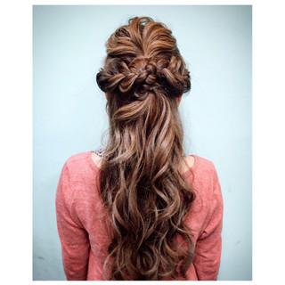 ヘアアレンジ ロング グラデーションカラー 外国人風 ヘアスタイルや髪型の写真・画像