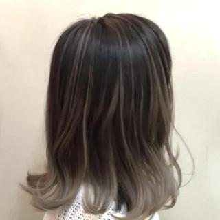 ユニコーンカラー ボブ ナチュラル ハイライト ヘアスタイルや髪型の写真・画像