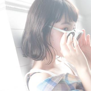 涼しげ アウトドア 大人かわいい フェミニン ヘアスタイルや髪型の写真・画像