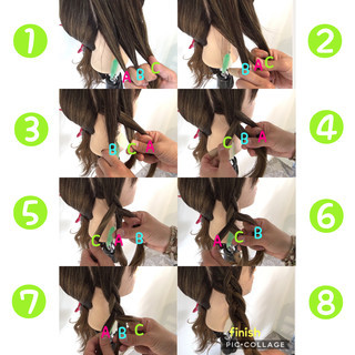簡単ヘアアレンジ ロング 裏編み込み ヘアアレンジ ヘアスタイルや髪型の写真・画像