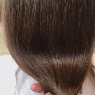 透明感カラー oggiotto 秋冬スタイル ツヤ髪 ヘアスタイルや髪型の写真・画像