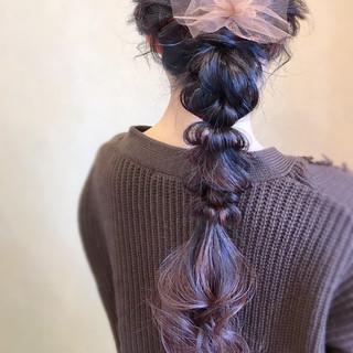 謝恩会 フェミニン お呼ばれ 簡単ヘアアレンジ ヘアスタイルや髪型の写真・画像