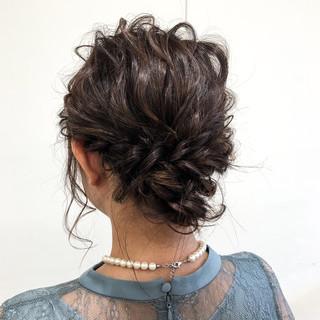 ヘアアレンジ 結婚式 成人式 シニヨン ヘアスタイルや髪型の写真・画像