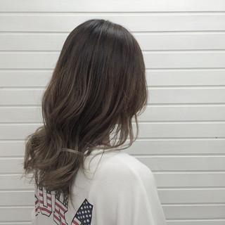 透明感 セミロング 外国人風 ストリート ヘアスタイルや髪型の写真・画像