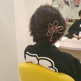 ヘアアレンジ 着物 お祭り 和服 ヘアスタイルや髪型の写真・画像 ヘアスタイルや髪型の写真・画像