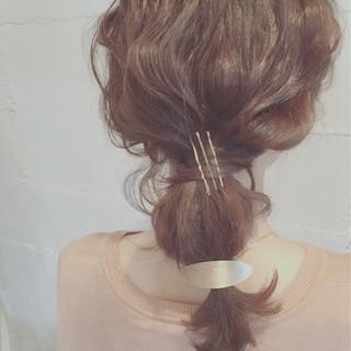 ヘアアレンジ セミロング 夏 ショート ヘアスタイルや髪型の写真・画像 ヘアスタイルや髪型の写真・画像