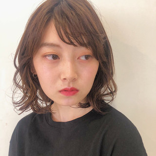 デート ガーリー ヘアアレンジ ミディアム ヘアスタイルや髪型の写真・画像