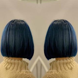 イルミナカラー グレージュ ボブ ストリート ヘアスタイルや髪型の写真・画像