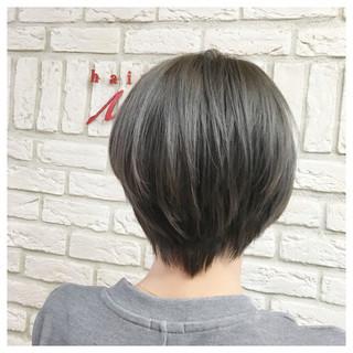 かっこいい 暗髪 ショート 外国人風 ヘアスタイルや髪型の写真・画像