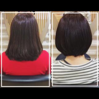髪質改善カラー ミディアム 髪質改善トリートメント 社会人の味方 ヘアスタイルや髪型の写真・画像
