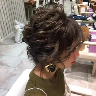 ハイライト 秋 ボブ 上品 ヘアスタイルや髪型の写真・画像