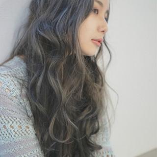 ブラウン 外国人風カラー ロング ブラウンベージュ ヘアスタイルや髪型の写真・画像