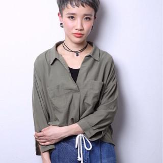 ベリーショート ショート モード ナチュラル ヘアスタイルや髪型の写真・画像