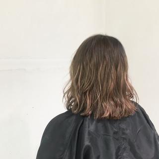 外国人風 グラデーションカラー ボブ ストリート ヘアスタイルや髪型の写真・画像
