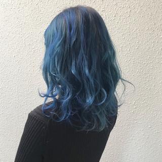 ハイトーン カラーバター ミディアム ブリーチ ヘアスタイルや髪型の写真・画像