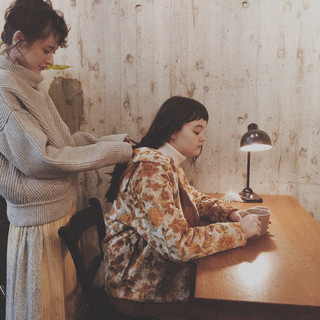 ミディアム 簡単ヘアアレンジ 前髪あり 大人かわいい ヘアスタイルや髪型の写真・画像