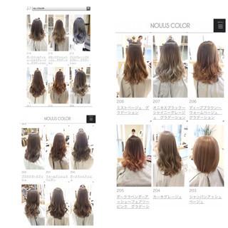 ロング ヘアアレンジ アッシュ グレージュ ヘアスタイルや髪型の写真・画像