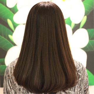 縮毛矯正 艶髪 ワンカール セミロング ヘアスタイルや髪型の写真・画像 ヘアスタイルや髪型の写真・画像