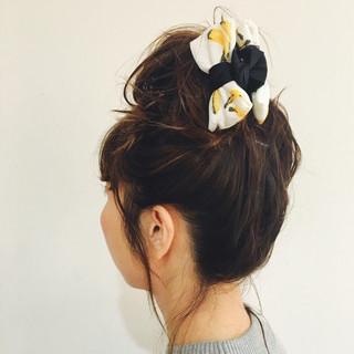 ショート 涼しげ 簡単ヘアアレンジ 抜け感 ヘアスタイルや髪型の写真・画像