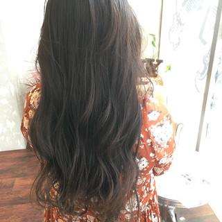 女子会 エレガント ダークアッシュ 暗髪 ヘアスタイルや髪型の写真・画像 ヘアスタイルや髪型の写真・画像