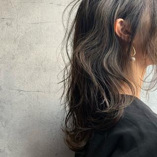 くびれボブ ニュアンスウルフ セミロング ウルフカット ヘアスタイルや髪型の写真・画像