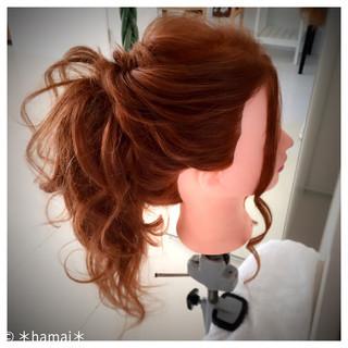 ロング ショート ヘアアレンジ ガーリー ヘアスタイルや髪型の写真・画像