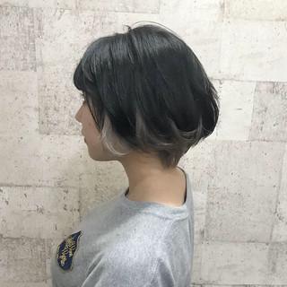 モード ショート ダブルカラー インナーカラー ヘアスタイルや髪型の写真・画像