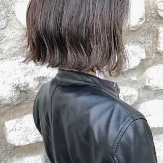 ボブ 外ハネ ハイライト モード ヘアスタイルや髪型の写真・画像