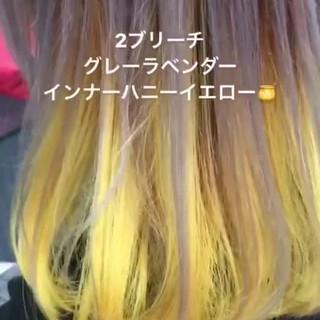 ミディアム オルチャン アウトドア オレンジ ヘアスタイルや髪型の写真・画像