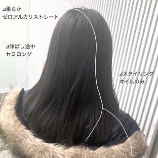 ナチュラル グレージュ 髪質改善 ストレート ヘアスタイルや髪型の写真・画像