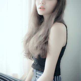 ゆるふわ グラデーションカラー フェミニン ロング ヘアスタイルや髪型の写真・画像