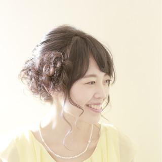 ゆるふわ ヘアアレンジ 結婚式 大人かわいい ヘアスタイルや髪型の写真・画像