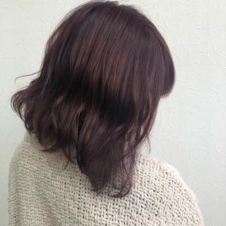 ボブ ピンク 透明感カラー ガーリー ヘアスタイルや髪型の写真・画像