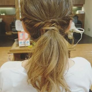 グラデーションカラー セミロング ブリーチ ハイトーン ヘアスタイルや髪型の写真・画像