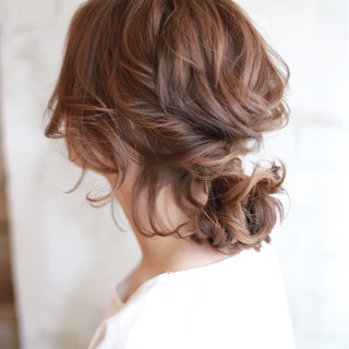 ヘアアレンジ 簡単ヘアアレンジ 夏 大人かわいい ヘアスタイルや髪型の写真・画像
