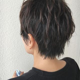 ストリート ウルフカット ハイライト エアリー ヘアスタイルや髪型の写真・画像