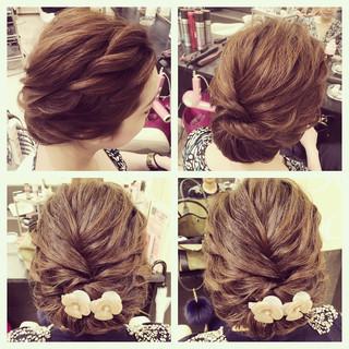 大人かわいい アップスタイル ねじり ヘアアレンジ ヘアスタイルや髪型の写真・画像 ヘアスタイルや髪型の写真・画像