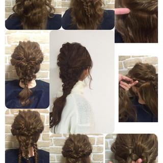 ゆるふわ ロング パーティ ヘアアレンジ ヘアスタイルや髪型の写真・画像